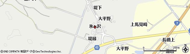 秋田県由利本荘市船岡(氷ヶ沢)周辺の地図