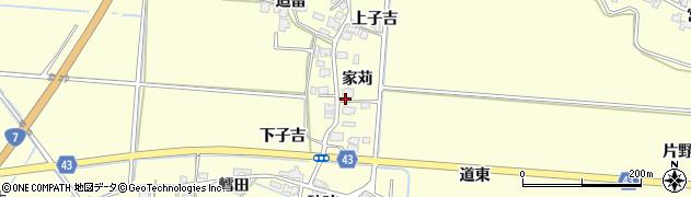 秋田県由利本荘市葛法(家苅)周辺の地図
