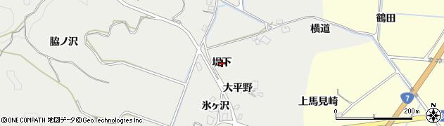 秋田県由利本荘市船岡(堤下)周辺の地図