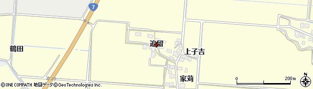 秋田県由利本荘市葛法(追留)周辺の地図