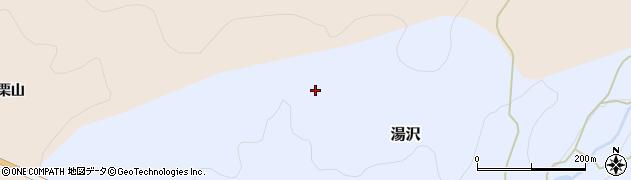 秋田県由利本荘市湯沢(寺沢)周辺の地図