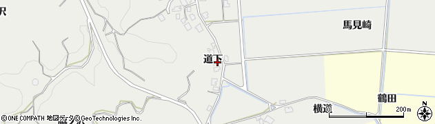 秋田県由利本荘市船岡(道下)周辺の地図