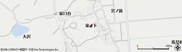 秋田県由利本荘市船岡(家ノ下)周辺の地図
