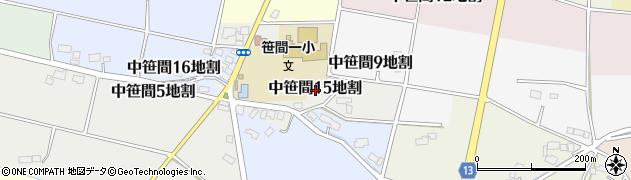 岩手県花巻市中笹間第15地割周辺の地図