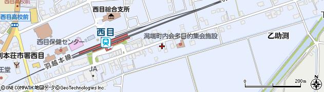 秋田県由利本荘市西目町沼田(弁天前)周辺の地図