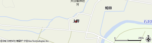 秋田県由利本荘市上野周辺の地図