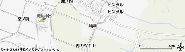 秋田県由利本荘市万願寺(舁瀬)周辺の地図