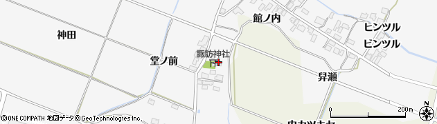 秋田県由利本荘市万願寺(九日町)周辺の地図