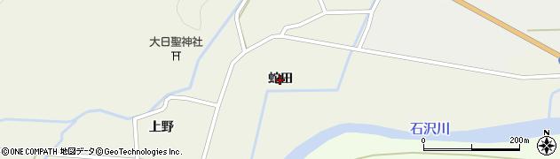 秋田県由利本荘市上野(蛇田)周辺の地図