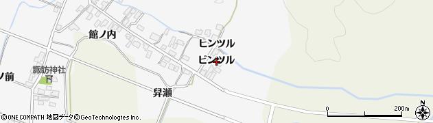 秋田県由利本荘市万願寺(ビンツル)周辺の地図
