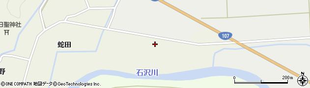 秋田県由利本荘市上野(田高)周辺の地図