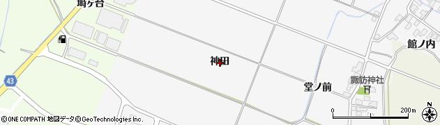 秋田県由利本荘市万願寺(神田)周辺の地図