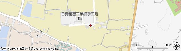 秋田県横手市安本(南御所野)周辺の地図