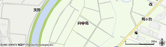 秋田県由利本荘市荒町(向中島)周辺の地図