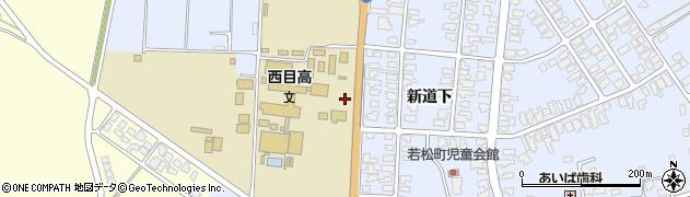 秋田県由利本荘市西目町沼田(新道下)周辺の地図