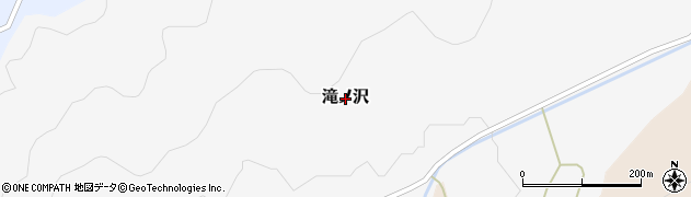 秋田県由利本荘市滝ノ沢周辺の地図