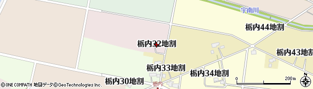 岩手県花巻市栃内第32地割周辺の地図