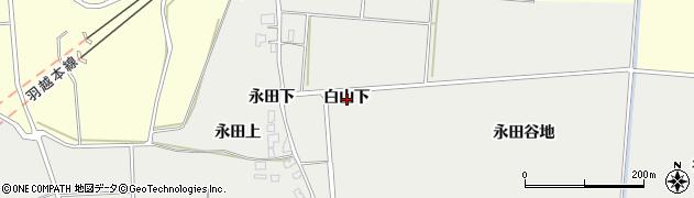 秋田県由利本荘市船岡(白山下)周辺の地図