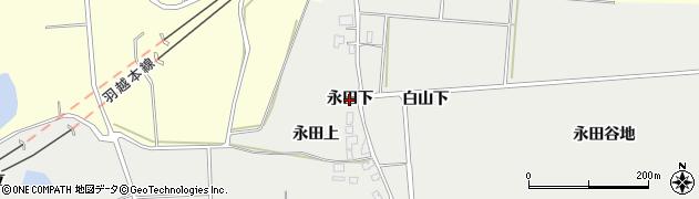 秋田県由利本荘市船岡(永田下)周辺の地図