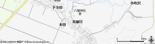 秋田県由利本荘市万願寺(荒田目)周辺の地図