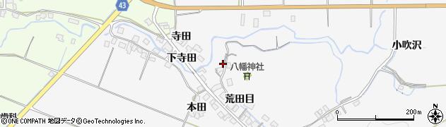 秋田県由利本荘市万願寺(上寺田)周辺の地図