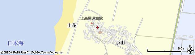 秋田県由利本荘市西目町出戸(土花)周辺の地図