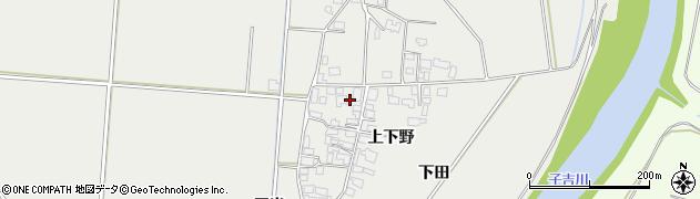 秋田県由利本荘市宮内(上下野)周辺の地図