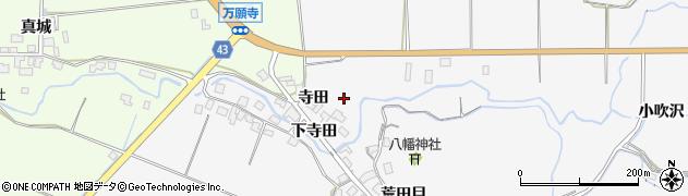 秋田県由利本荘市万願寺(寺田)周辺の地図