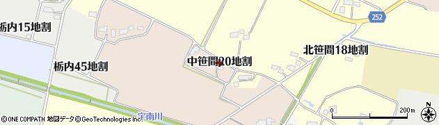 岩手県花巻市中笹間第20地割周辺の地図