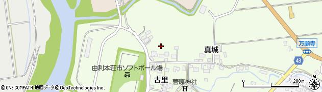 秋田県由利本荘市荒町周辺の地図