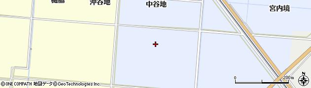 秋田県由利本荘市埋田(中谷地)周辺の地図