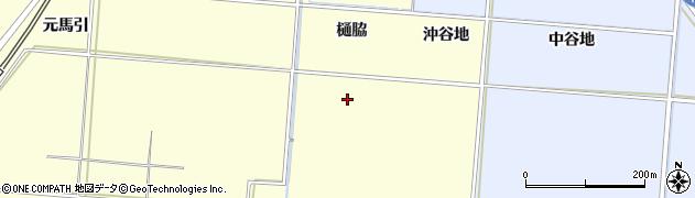 秋田県由利本荘市藤崎(樋脇)周辺の地図