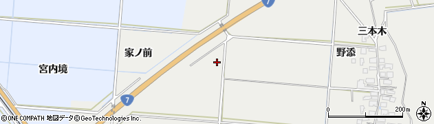 秋田県由利本荘市宮内(家ノ前)周辺の地図