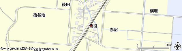 秋田県由利本荘市藤崎(馬引)周辺の地図