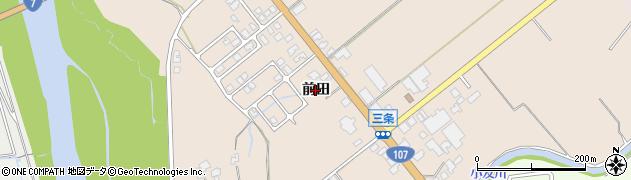秋田県由利本荘市三条(前田)周辺の地図