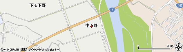 秋田県由利本荘市宮内(中下野)周辺の地図