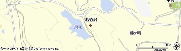 秋田県由利本荘市藤崎(若竹沢)周辺の地図