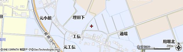秋田県由利本荘市埋田(埋田下)周辺の地図