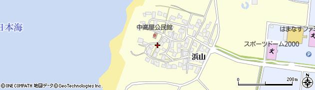 秋田県由利本荘市西目町出戸(中高屋)周辺の地図