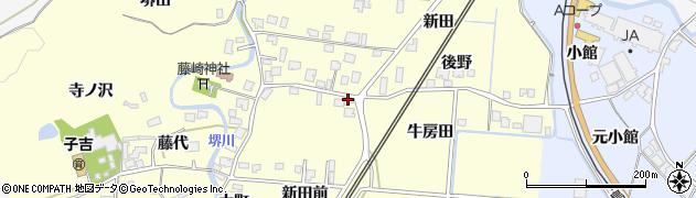 秋田県由利本荘市藤崎(新田前)周辺の地図