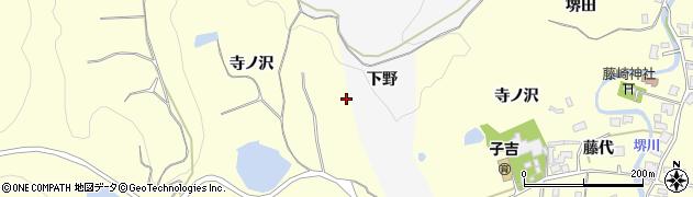 秋田県由利本荘市藤崎(寺ノ沢)周辺の地図