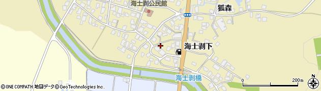 秋田県由利本荘市西目町海士剥(海士剥下)周辺の地図