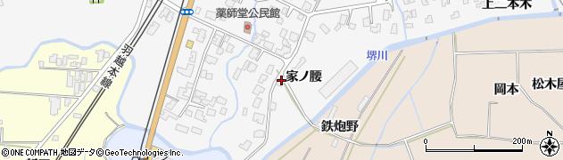 秋田県由利本荘市薬師堂(家ノ腰)周辺の地図