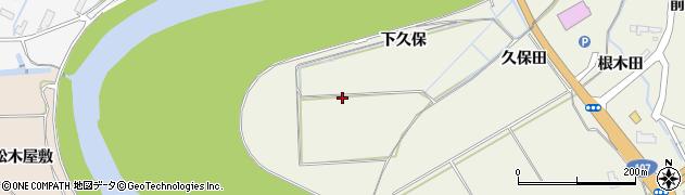 秋田県由利本荘市二十六木(下久保)周辺の地図