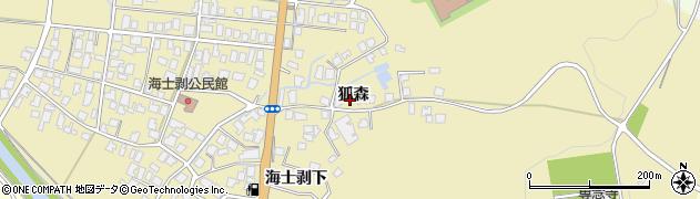 秋田県由利本荘市西目町海士剥(狐森)周辺の地図
