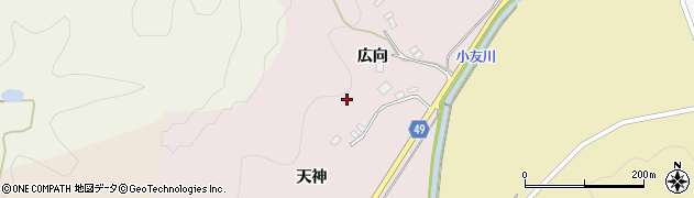 秋田県由利本荘市館前周辺の地図