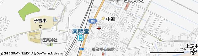 秋田県由利本荘市薬師堂(中道)周辺の地図