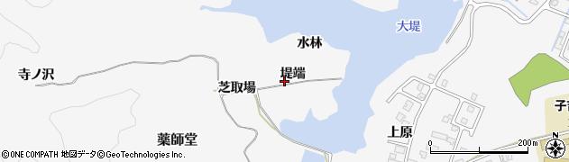 秋田県由利本荘市薬師堂(堤端)周辺の地図