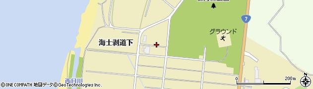 秋田県由利本荘市西目町海士剥(海士剥道下)周辺の地図