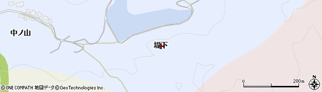 秋田県由利本荘市大中ノ沢(堤下)周辺の地図